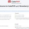 CakePHPのデータベース設定済み